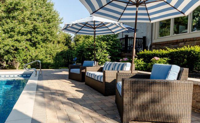 pool and paver patio